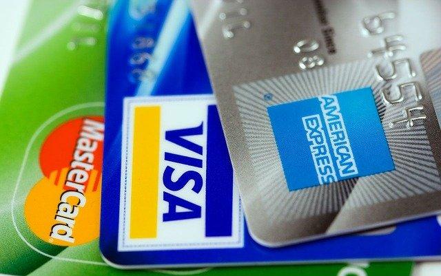 VISA、マスターカード、アメリカンエキスプレスのクレジットカード